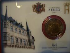 LUXEMBOURG Coin Card BU 2€ Palais DUCAL 2007