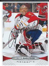 Jacob Markstrom Signed 2011/12 Upper Deck Card #122