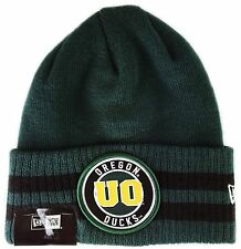 Oregon Ducks NCAA 2 Striped Remix Cuff Knit Beanie, One Size Green Yellow