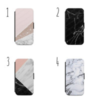 Marble Pattern FLIP/WALLET Phone Case Cover iPhone/Samsung All models