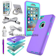 For Apple iPhone 7 6S 6 7 Plus Case Shockproof Protective Armor Cover+Accessory