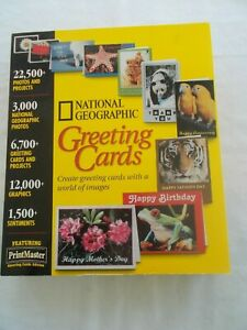 National Geographic Greeting Cards CD-Rom Sealed Box 1998