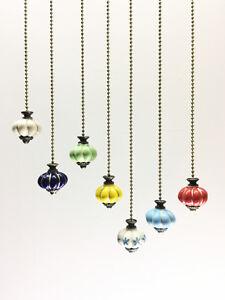Light Pull Chain Cord Ceramic pumpkin for Bathroom Choose 100cm bronze Chain