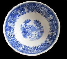 Saladier piédouche Villeroy & Boch Mettlach Burgenland bleu Vintage Round Dish