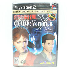 PS2 Resident Evil Code Veronica X Sealed! Sony Playstation 5th Annv w/ DMC Demo