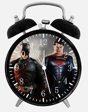 "Superman V Batman Alarm Desk Clock 3.75"" Room Office Decor E46 A Nice Gift"