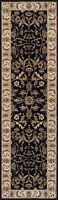 QUALITY  Wool Black Beige floral Traditional Persian Oriental Rug Runner 35%OFF