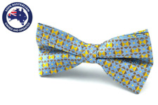 Men's Bow Ties Yellow Blue Brown Pattern Bowties Formal Groomsmen Wedding Party