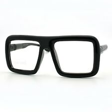 Thick Square Glasses Clear Lens Eyeglasses Frame Super Oversized Fashion