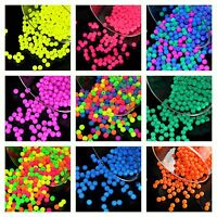 CHOOSE COLOR! 160pcs 3mm NEON Round Beads (UV-Active) Czech Pressed Glass