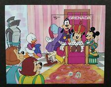 GRENADA 1985 - DISNEY/MICKEY MOUSE - PRINCE & THE PAUPER MNH SHEET COA