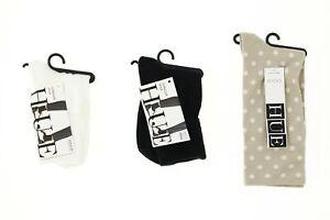 Lot of 3 HUE socks white, black, chinos dot 140585