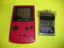 Nintendo GAME BOY Color Console Berry Pink with Gameshark Enhancer Tested