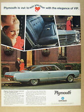 1967 Plymouth VIP 2-door Hardtop blue car photo vintage print Ad