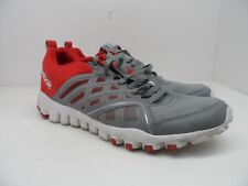 Reebok Men's Realflex Speed 3.0 Running Shoes Gray/Red Size 13M