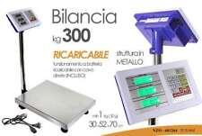 BILANCIA 300 KG PORTATILE DIGITALE INDUSTRIALE RICARICABILE PIATTAFORMA 681264