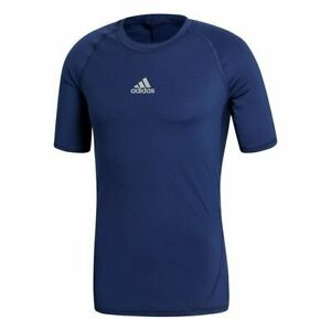 adidas AlphaSkin Techfit Compression Team Short Sleeve Shirt Blue Medium CW9520