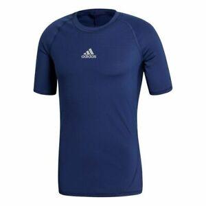adidas AlphaSkin Techfit Compression Team Short Sleeve Shirt Blue Medium CW9520