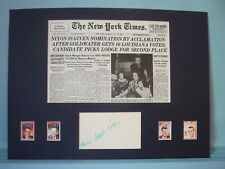 Richard Nixon Nominated in 1960 & Running Mate Henry Cabot Lodge's autograph