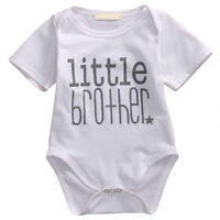 Newborn Infant Baby Boy Romper Bodysuit Lovely Matching Big Brother Tops Outfits