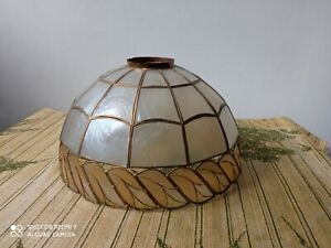 French Vintage Capiz shell lampshade