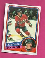 1984-85 OPC # 259 CANADIENS CHRIS CHELIOS  ROOKIE NRMT+ CARD (INV# D3783)