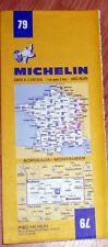 Carte MICHELIN N° 79 - Bordeaux - Montauban 1983-1984