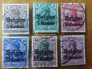 EBS Germany 1914 - World War I - Occupied Belgium - Michel 1-6 Used (5649