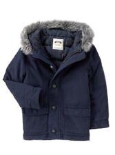 Gymboree Woodland Party Navy Blue Hooded Parka Jacket Coat Faux Fur - XS (4)