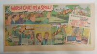 Pepsi-Cola Ad: Horse Steeplechase It's A Spill ! from 1940's  7.5 x 15 inches