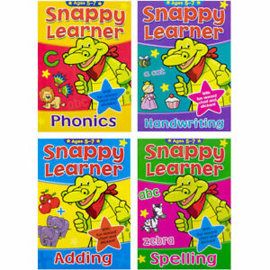 🔥Home Learning Snappy Learner Maths Spelling Read Writing Activity Book Age 5-7