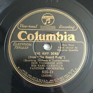 78 rpm Don Voorhees And His Earl Carroll's Vanities 29' JAZZ Victrola Viva tonal