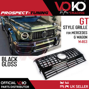 GLOSS BLACK PANAMERICANA GT STYLE GRILLE for MERCEDES G WAGON W463 1990-2018