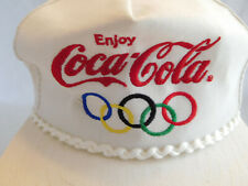Vintage Coca Cola Olympic Rings Games Baseball Cap Hat Snapback