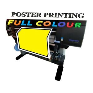 Personalised Custom Full Colour Printing Glossy Poster A2 195 gsm