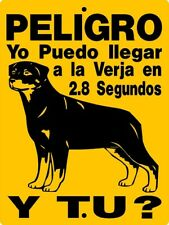 ROTTWEILER  GUARD DOG SPANISH  VINYL LETTERING AND GRAPHICS DECAL ONLY 2827BRS
