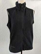 Women's Columbia Black Polar Fleece Vest SIZE M MEDIUM