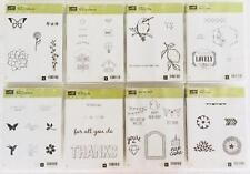 Lot 8 Stampin' Up Unmounted Stamp Sets Petal Parade For Being You You're Lovely