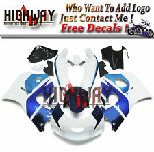 Fairings Fit Suzuki GSXR600 750 1996-1999 ABS Fairing Kit Bodywork White Blue GX
