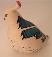 Lucy Yepa Lowden Jemez Native American Pottery Bird Hand Painted Signed
