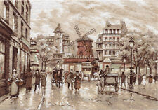 "Counted Cross Stitch Kit PANNA - ""Paris. Moulin Rouge."""