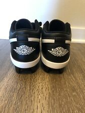 NIKE AIR JORDAN 1 RETRO MCS LOW BASEBALL CLEATS CJ8524-001 BLACK MEN SIZE 10.5