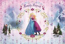 368x254cm Papel pintado Fotomural DORMITORIO INFANTIL FROZEN ELSA & Anna Disney