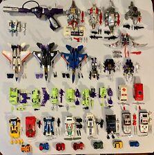 Large Vintage Original G1 Hasbro Transformers Lot of 36 BUMBLEJUMPER DEVASTATOR