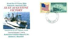 ST. AUGUSTINE VICTORY Ship named for City St. Augustine,Florida Cachet Handstamp