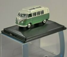 VOLKSWAGEN T1 CAMPER in Turquoise / White - 1/76 scale model OXFORD DIECAST