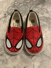 Baby Gap Toddler Size 7 Marvel Spiderman Loafers Red Black Slip On Casual Shoes