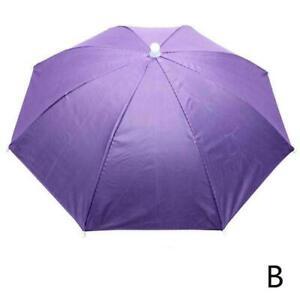 Sun Umbrella Hat Outdoor Hot Foldable Golf Fishing Cap Headwear Head Y7K8