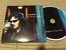 ZUCCHERO SUNG IN SPANISH CD SINGLE SPAIN BLU ( lo que pienso ) 1 TRACK PROMO