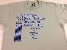 Georgia Real Estate Investors Shirt VTG 90s M/L Happiness Is Positive Cash Flow